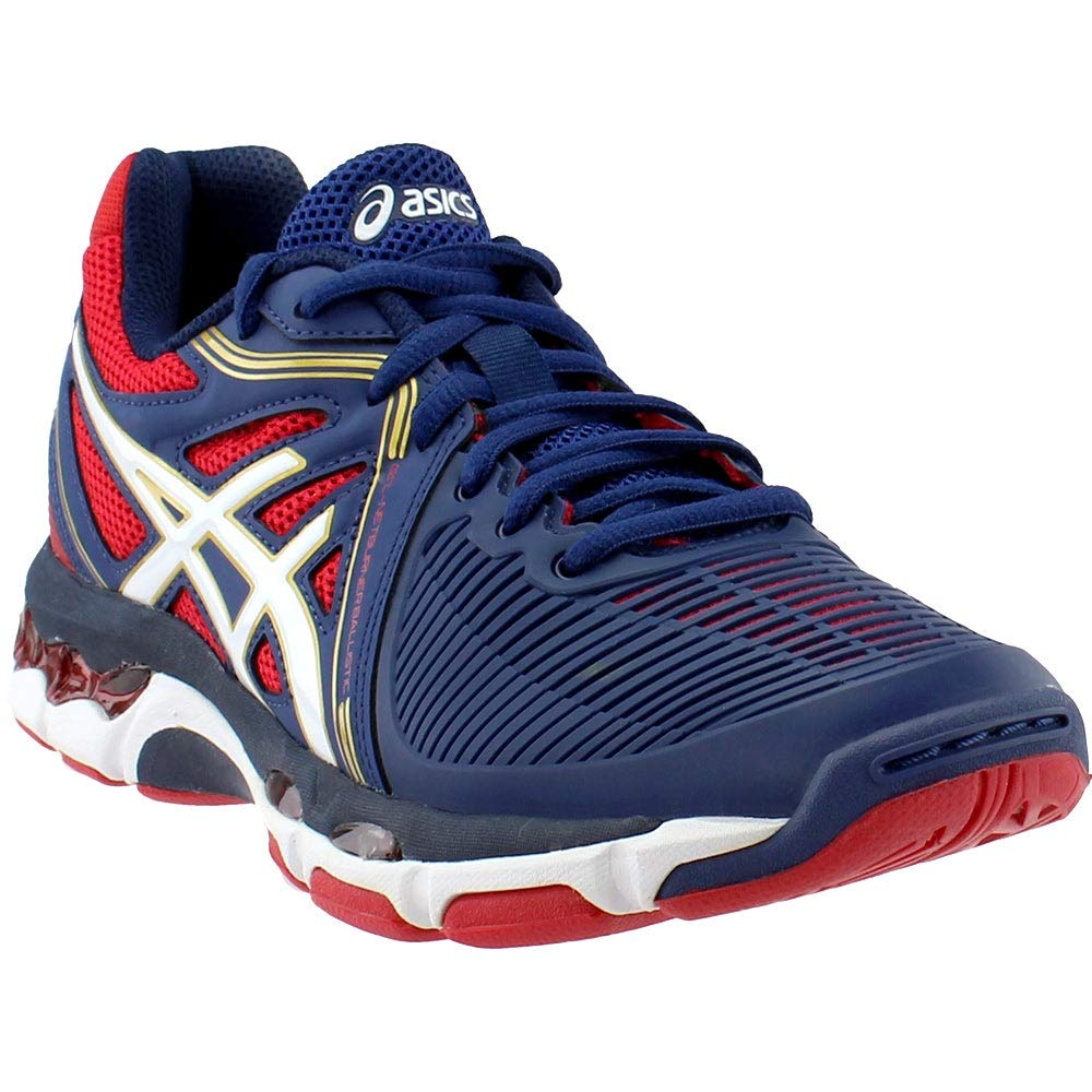 ASICS Women's Gel-Netburner Ballistic Volleyball Shoe, Estate Blue/White/True Red, 6.5 M US by ASICS
