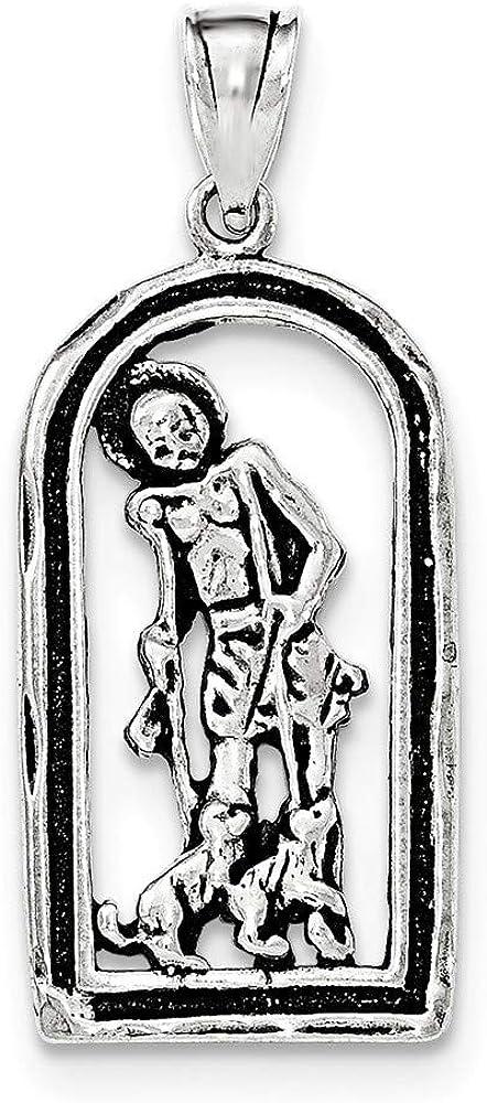 Lazarus In Frame Pendant 925 Sterling Silver Antiqued St