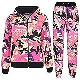 A2Z 4 Kids Kids Tracksuit Boys Girls Designer's Camouflage Print - T.S A2Z Camo Baby Pink 7-8