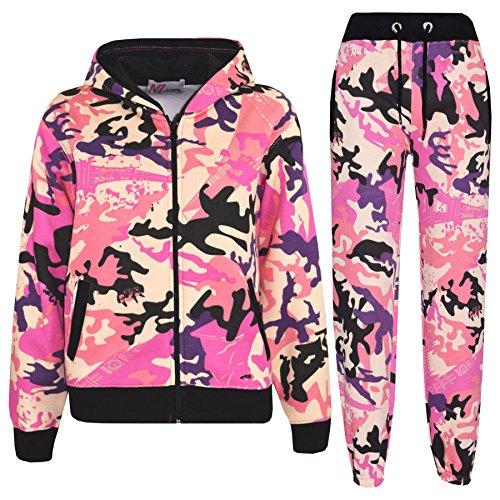 Kids Tracksuit Boys Girls Designer's Camouflage Jogging Suit Top Bottom 5-13 Yr ()