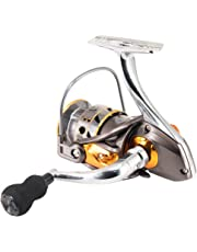 FONESO Spinning Fishing Reels with Left/right Interchangeable Collapsible Handle 5.0:1 Gear Ratio Smooth 10BB For Inshore Boat Rock Freshwater Saltwater Fishing