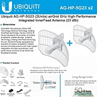 Ubiquiti AG-HP-5G23 (2Pack) AirGrid M5 HP Antenna 23dBi 5GHz 100+ Mbps 25+ km