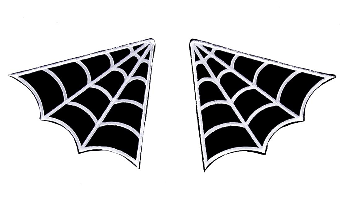 Gothic Spider Web Patch Iron on Applique Alternative Clothing Rockabilly Tattoo Ink