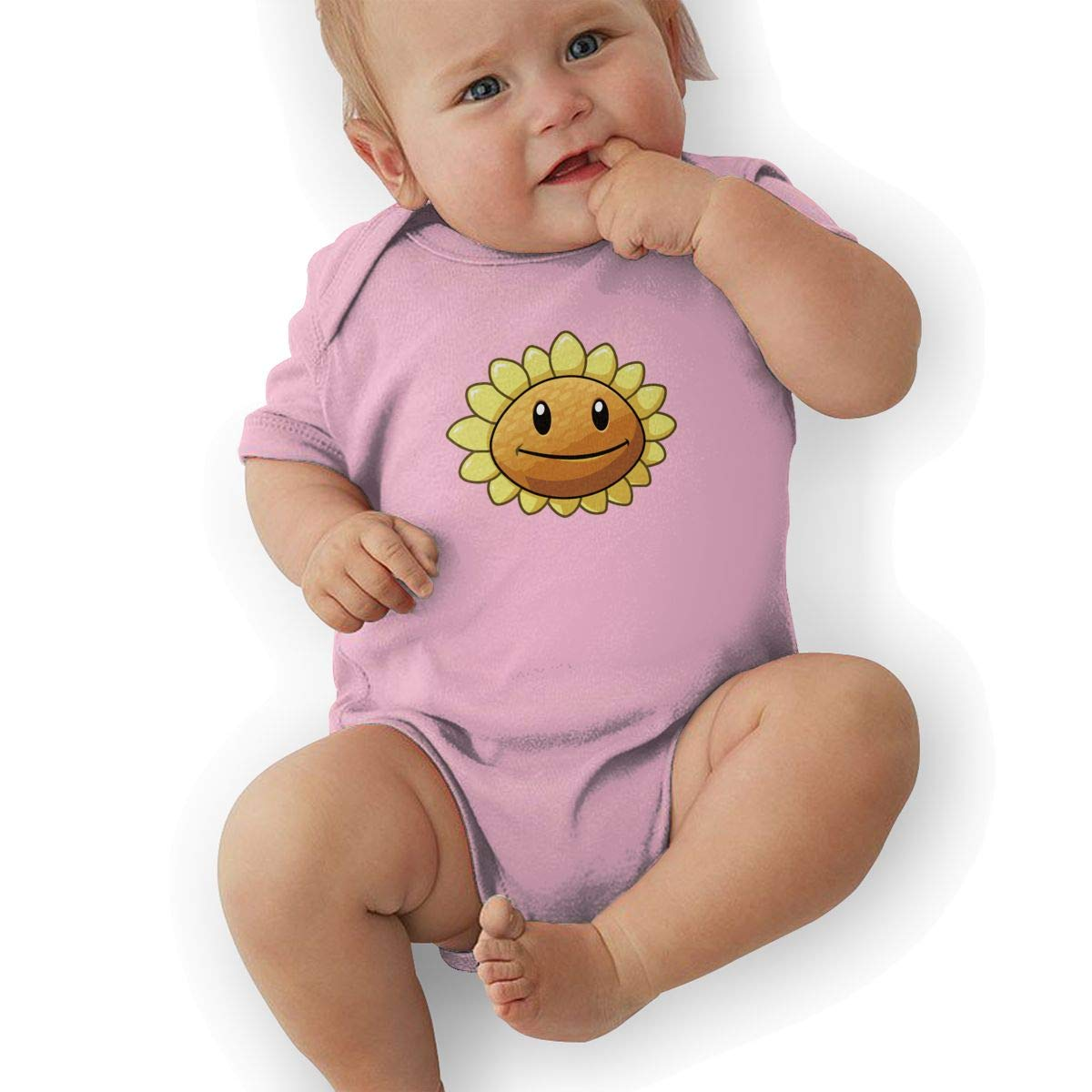 QUCHEN Sunflower Logo Baby Boys Girls Long Sleeve Bodysuits Rompers Outfits 6-48 Months