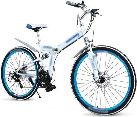 Bicicleta de montaña plegable, de 24 pulgadas de 24 velocidades ...
