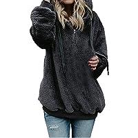 CCSDR Blouses for Women Clearance Sale 2018 New Casual Women's Quilted Lightweight Jackets Women Hooded Sweatshirt Coat Winter Warm Wool Zipper Pockets Cotton Coat Outwear