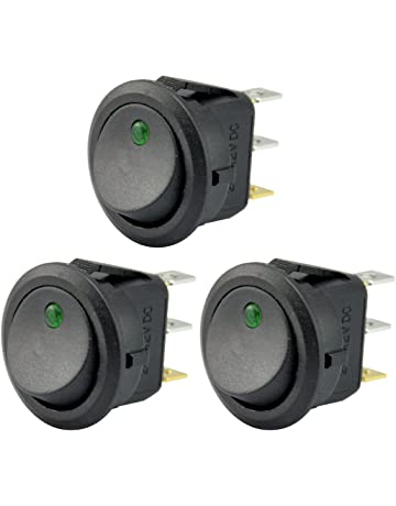 AutoEC New 3pc Car Truck Rocker Toggle LED Switch Green Light On-off Control 12V
