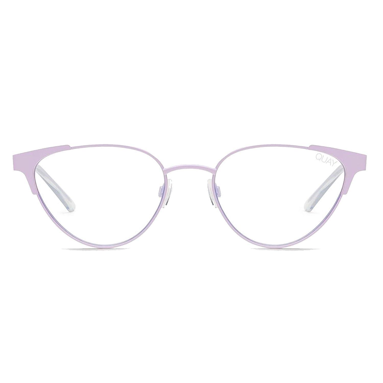6f83b8707223 Amazon.com: Quay Australia Women's Song Bird Sunglasses, Lilac/Clear Blue  Light Lens, One Size: Clothing