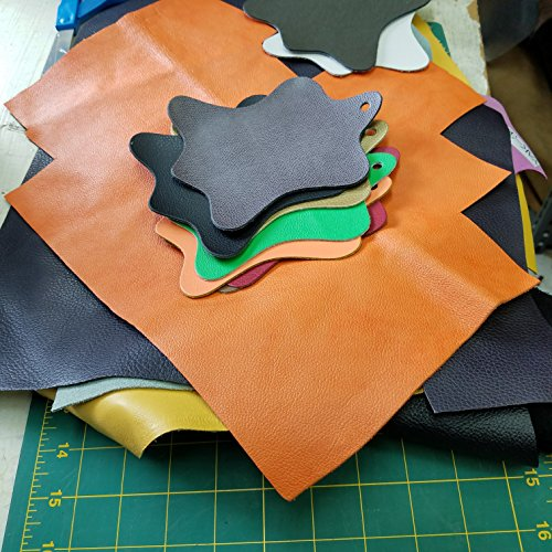 NAT Leathers scrap remnants trimming of Cow hide shoe handbag upholstery leathers in 2.5-3.0 oz 1.2-1.4 mm about 2 lbs Cow Hide Leather Skin (2 (Suede Cow Leather)
