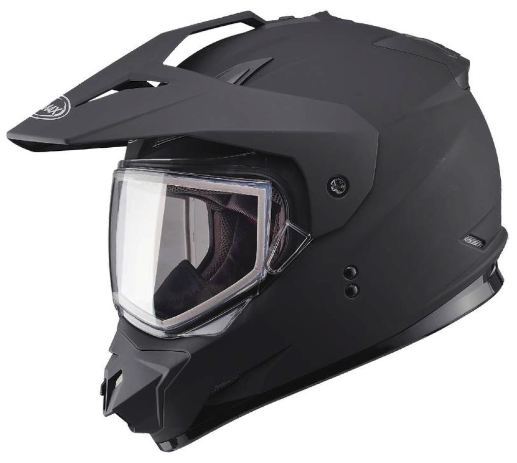 G-Max XF-3-72-7123L GM11S Snow Sport Helmet with Electric Shield, Gender: Mens/Unisex, Size: Lg, Primary Color: Black, Distinct Name: Matte Black, Helmet Type: Dual Sport Helmets, Helmet Category: Sno