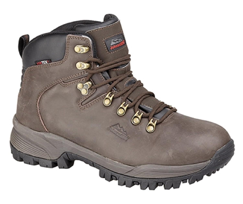 Mens Leather Waterproof Hiking Trekking Walking Boots by Johnscliffe
