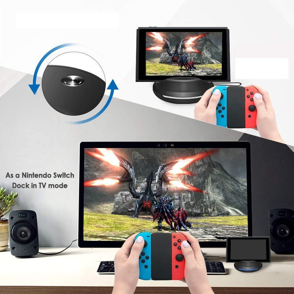Base de TV de Carga portátil para NS Mini Dock de reemplazo con Chip electrónico y disipación de Calor para NS,modo de TV compatible y modo de consola: Amazon.es: Videojuegos