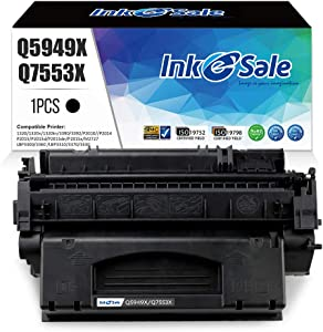 INK E-SALE Compatible Q5949X Q7553X Toner Cartridge Replacement for HP 49X Q5949X 53X Q7553X (Black 1Pack) for use in HP LaserJet P2015dn P2015 P2015d 1320 1320n 3390 3392 M2727nf P2014 P2010 Printer
