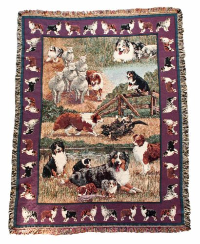 Gone Doggin Australian Shepherd Blanket Throw #1 - Exclusive Dog Breed Tapestry