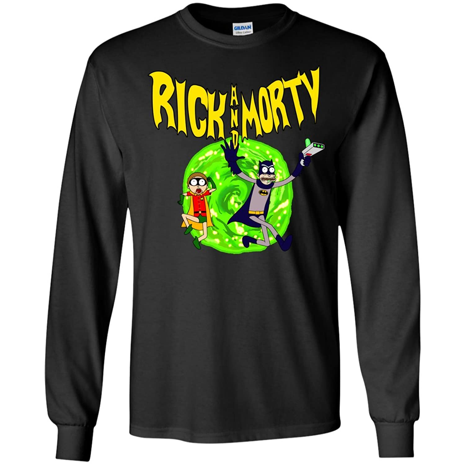 Rick and Morty Batman Reality Men Long Sleeve