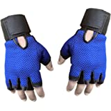 Sports 101 Genuine Leather Netted Gym & Fitness Gloves with Wrist Support