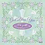 God Bless You on Confirmation Floral 20 Count 3-Ply Paper Luncheon Napkins Pack of 2