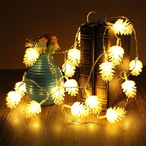 Willing Life 30 LED 9.84 ft/ 3 m Echinacea String Lights Fairy String Lights Battery Operated for Chirstmas Festival Wedding Birthday Party Patio Garden Home Decoration Warm White (2)