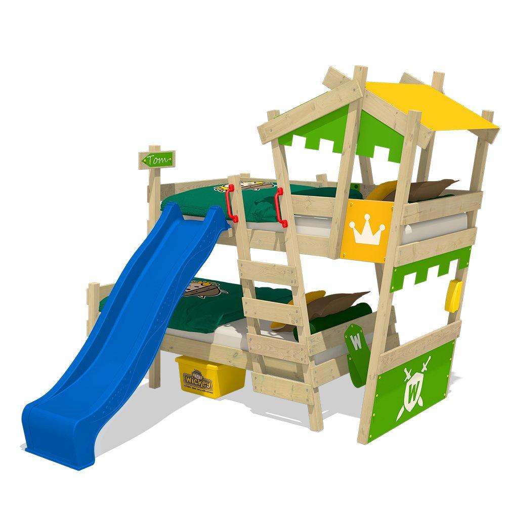 Kinderbett baggerbett  WICKEY Spielbett mit Rutsche CrAzY Smoky Kinderbett 90x200 ...