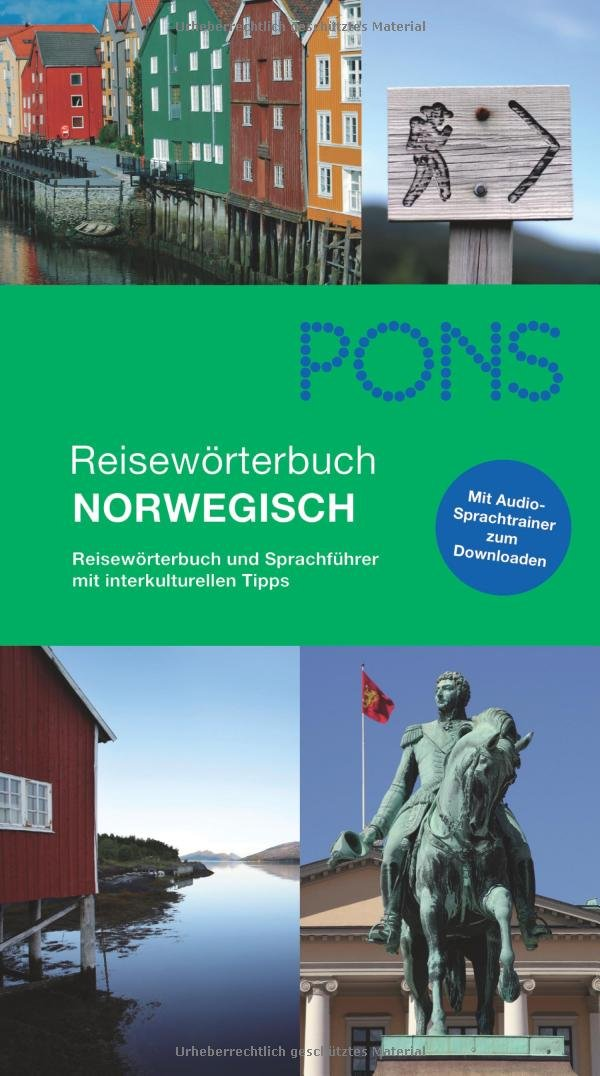 PONS Reisewörterbuch Norwegisch + MP3: Reisewörterbuch und Sprachführer mit interkulturellen Tipps Broschiert – 20. Januar 2011 Jens U Kumpch PONS GmbH 3125185769 Norwegisch; Sprachführer