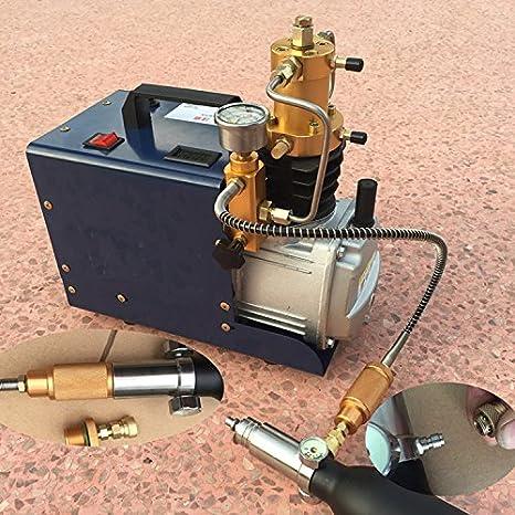 30 mpa 40 MPa 4500psi 6000psi Mini PCP Compresor De Aire De Alta Presión Bomba de aire eléctrica 220 V para Airgun Rifle de Buceador, 220 V: Amazon.es: ...