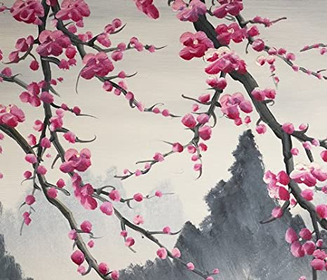 Amazon Japanese Cherry Blossom Painting Feng Shui Flower 42 Oil Paintings