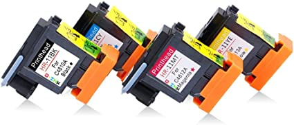 QINK 4PK Repuesto para HP 11 Printhead Premium C4810A C4811A C4812A C4813A para HP Business Inkjet 2800 1100 cp1700,HP Designjet 10 50 100 120 500 800, HP Officejet 9110 9120, HP Officejet Pro K850: Amazon.es: Oficina y papelería