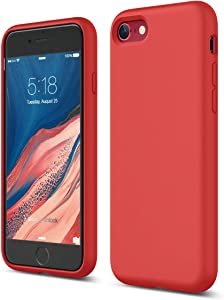 elago iPhone SE 2020 Case, iPhone 8 Case, iPhone 7 Case, Premium Liquid Silicone, Protective 3 Layer Structure [Red]