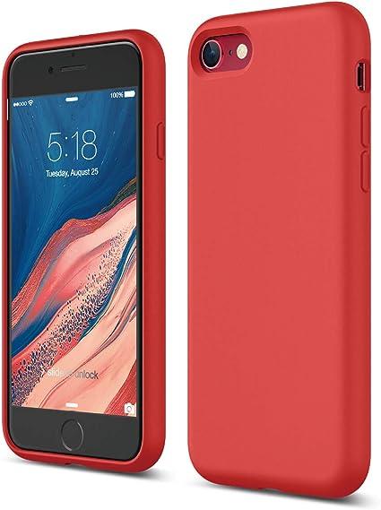 cover iphone se silicone rossa