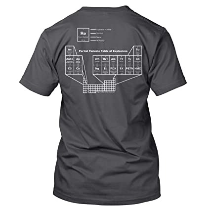 Amazon Re Factor Tactical Periodic Table Of Explosives T Shirt