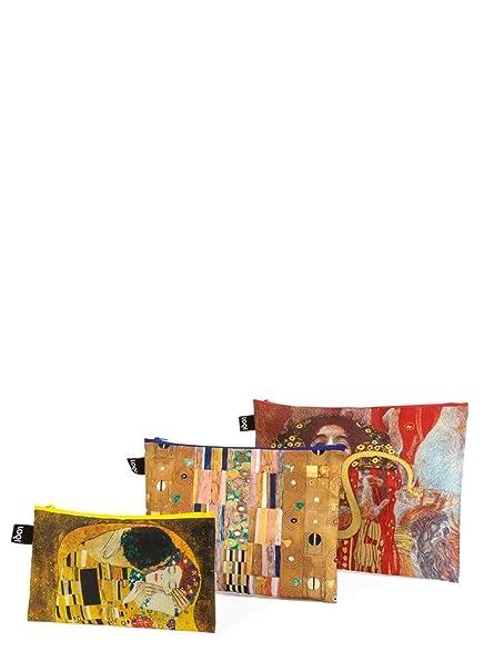 LOQI LOQI Museum Gustav Klimt Zip-Etuis Monedero, 39 cm, (Klimt)