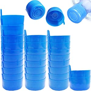 30 Pack Non Spill Caps,Reusable 55mm 3 and 5 Gallon Water Bottle Snap On Cap,Replacement Non-Spill Anti Splash Water Jug Caps