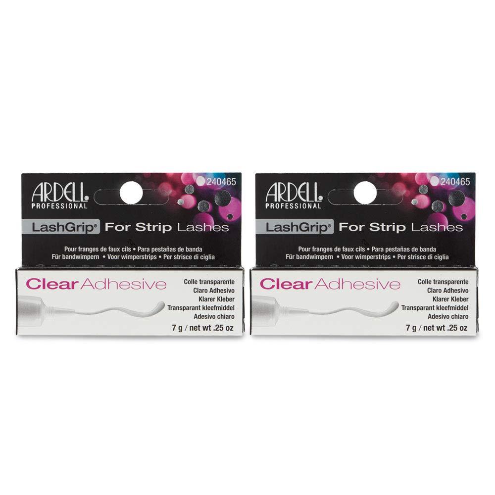 Ardell Lashgrip Strip False Lash Adhesive, Clear, 0.25 Oz x 2 pack