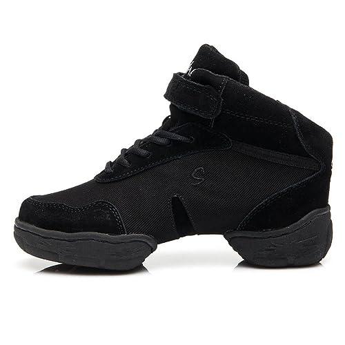 SWDZM mujeres zapatos de baile moderno hip-hop zapatos de jazz baile  moderno deportivo zapatillas de deporte zapatos al aire libre ES-B53   Amazon.es  ... a65c0272602