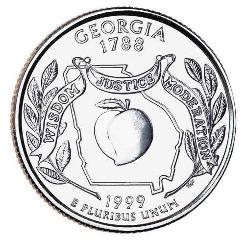 1999-P Georgia State Quarter BU Roll
