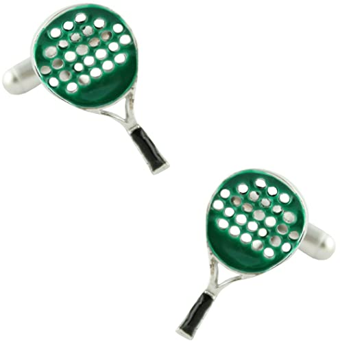 MasGemelos - Gemelos Raqueta de Padel Verde Cufflinks ...