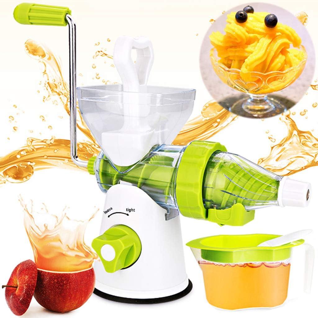 Manual Masticating Juicer - Household Hand Juicer Multifunction Fresh Fruit Extractor Kitchen Tool Mashed Press Fruit Vegetable Wheatgrass Juicer Manual Juicer