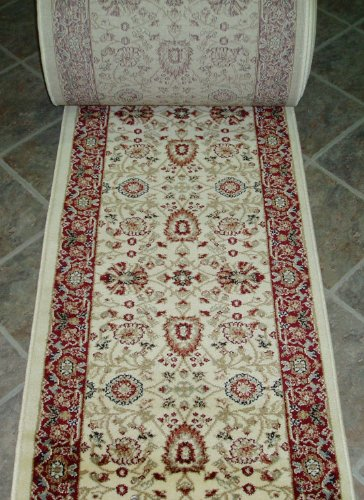 Custom Roll Ivory Runner (149555 - Rug Depot Dynamic Yazd 2803-130 Ivory Traditional Hall and Stair Runner - 26