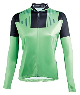 ILPALADINO Biking Bike Jersey Women Long Sleeve Quick Dry Cycling Shirt  Breathable Green Bicycle Top Size 994e88249