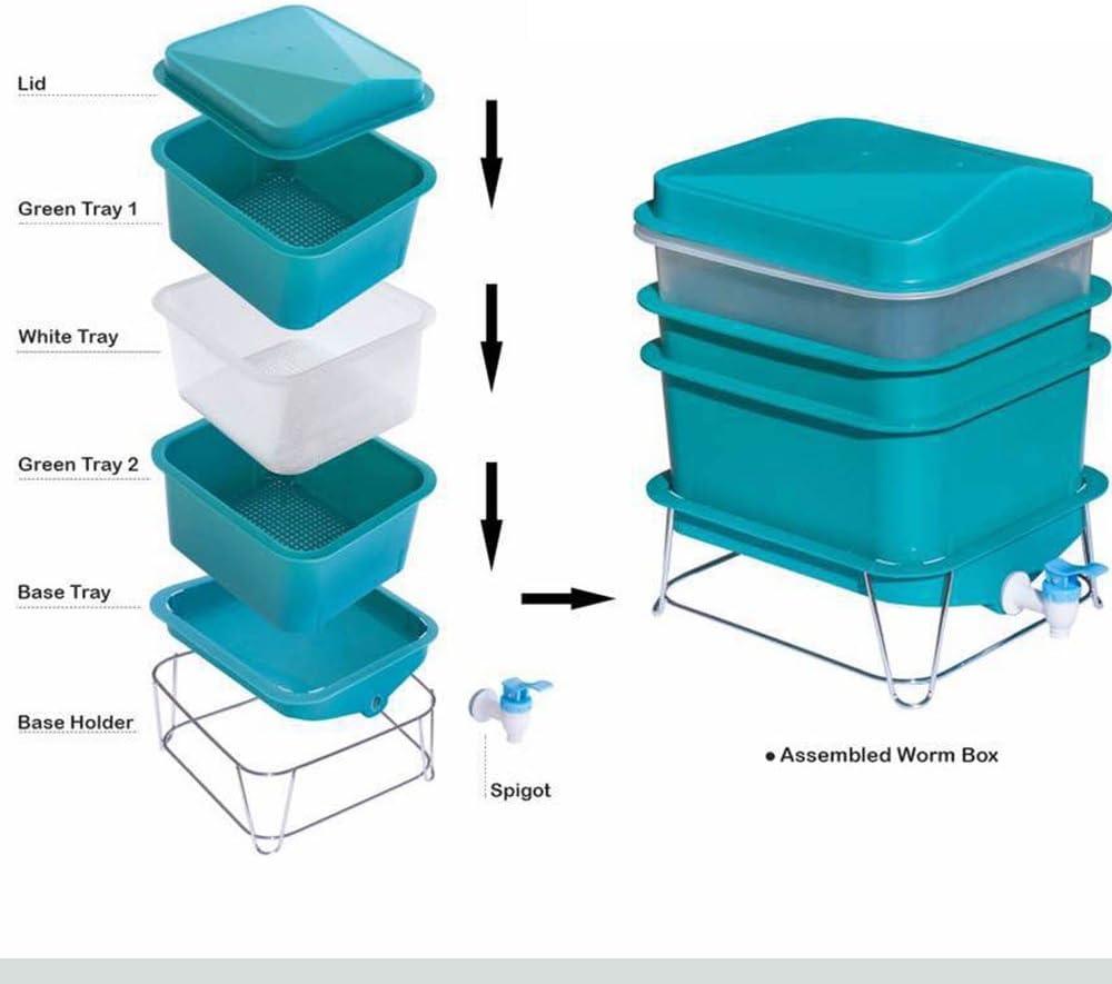 Amazon.com: Factory Farm juego de contenedores de reciclaje ...
