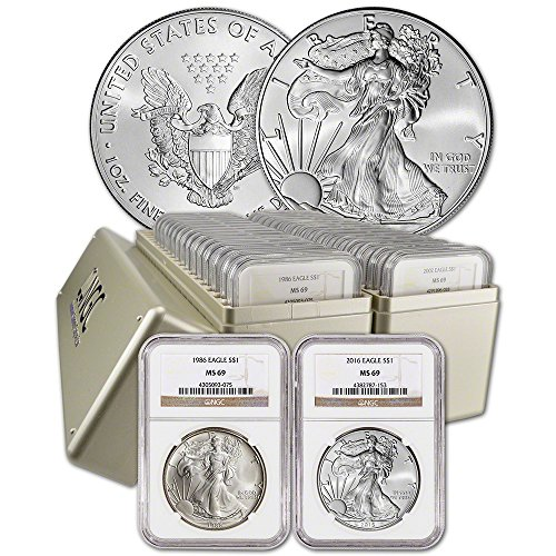 1986 - 2016 American Silver Eagle 31-pc. Complete Date Set MS69