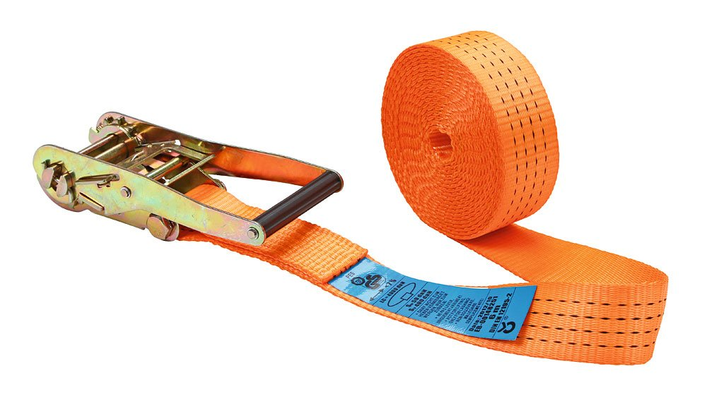 Kerbl 37147 Ratchet Lashing Strap 1 Part 50 mm x 6 m for Load 2, 000 to 4, 000 kg Orange import_efn_uk