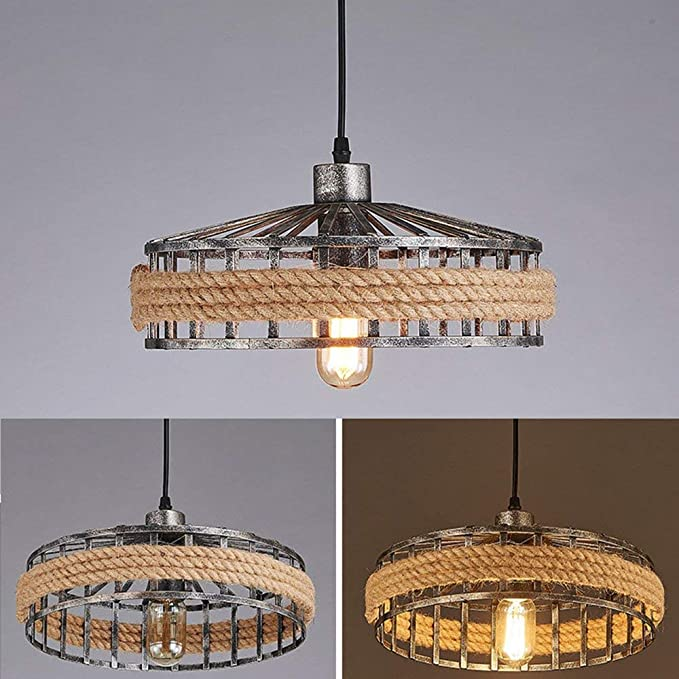 Amazon.com: YWMSJD Industrial Antique Round Pendant Lamp ...