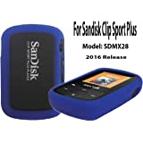 Silicone Case For SanDisk Clip Sport Plus Bluetooth MP3 Player (Model SDMX28) 2016 Release, Blue