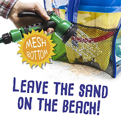 Sol Coastal 18-Piece Bodacious Beach Bum Activity Pack - Sand Castle Molds & Tools in Handy Carry Bag with Quick-Dry Mesh Bottom by