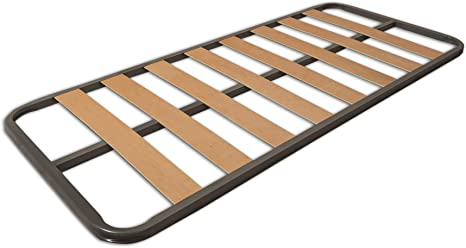 MUEBLIX.COM | Somier Eco para Cama 105 x 190 cm | Somier Sin Patas | Láminas Madera de Chopo de 9 cm y Estructura de Tubos de Acero | Útil para Camas ...