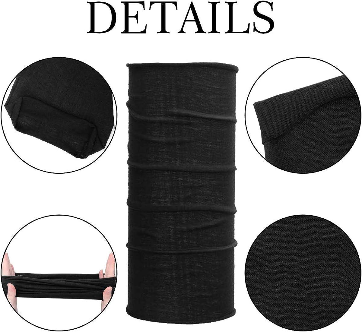 8Pcs Neck Gaiter Bandana for Men Women Dustproof Headwear Neck Gaiter Scarf Seamless Bandanas for Yoga Fishing Sports