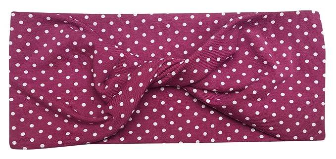 ed17abbccf6f13 Wollhuhn ÖKO Damen/Mädchen Süßes elastisches TWIST Pünktchen Haarband/Stirnband  gedreht (aus Öko