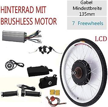 26 Motor de Cubo de 36 V Bicicleta eléctrica 800 W / 500 W LCD E ...