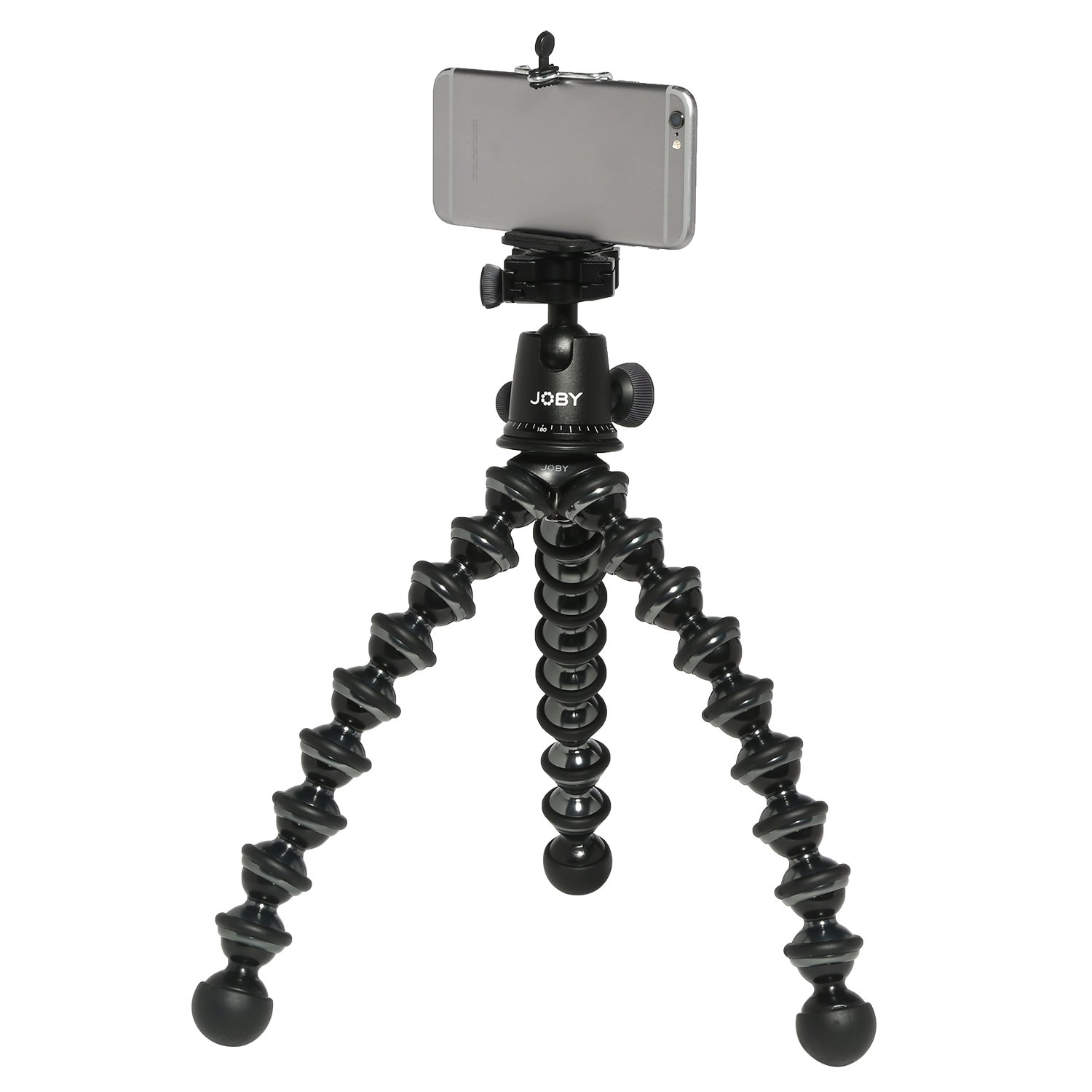 Joby GorillaPod Focus Flexible Tripod For DSLR Cameras w/ Ivation Mounting Kit for Most Smartphones and Tablets with Ivation Wireless Bluetooth Selfie Remote Control for IOS and Android Phones